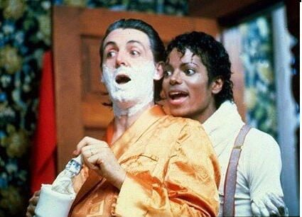 Paul McCartney y Michael Jackson.