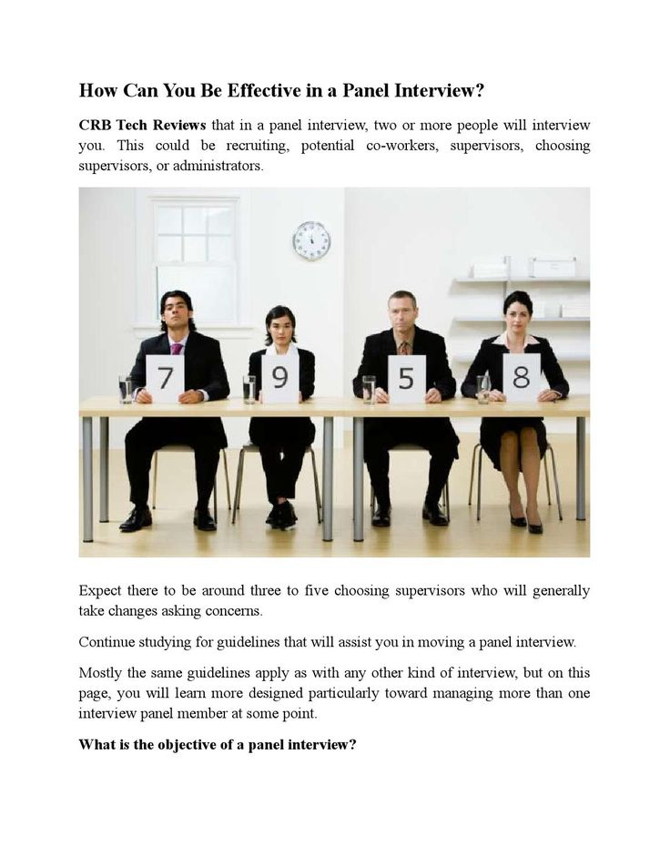 How can you be effective in a panel interview
