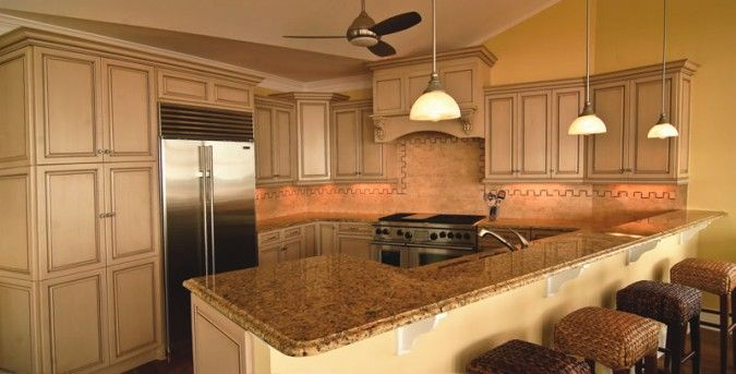 kitchen with painted cabinets kitchen with painted cabinets and