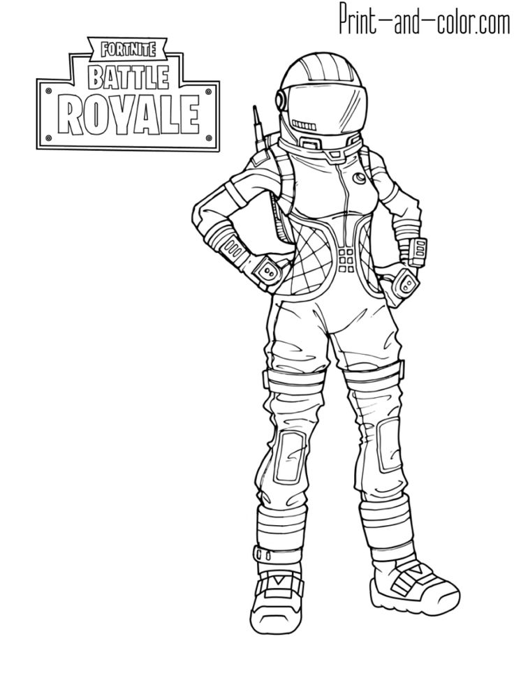 Fortnite battle royale coloring
