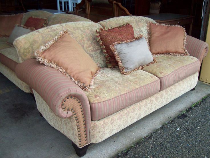 Nail studded custom made couches 19415 $425