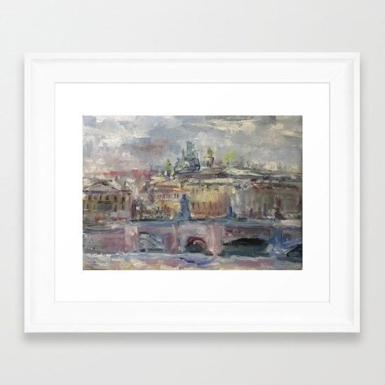Oil Painting On Canvas City Landscape Artwork от ChistiakovArt