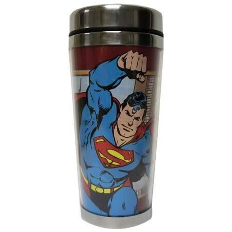 SUPERMAN DC COMICS 16 OZ. TRAVEL MUG
