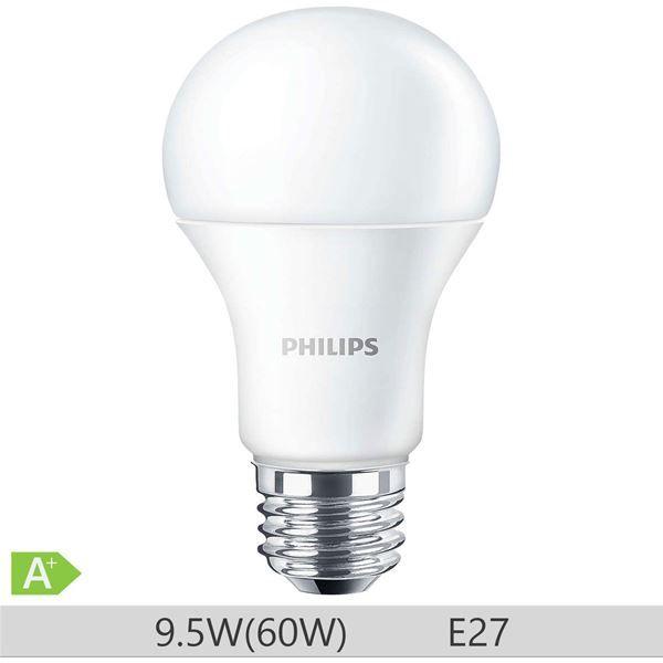 Bec LED Philips forma clasica 9.5W, A60, E27, 230V, 15000 ore, lumina calda, 871869649754800 http://www.etbm.ro/tag/148/becuri-led-e27