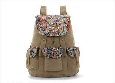 School Casual Cute Canvas Shoulder Bag Womens Mens Backpack Bookbag Satchel New | eBay