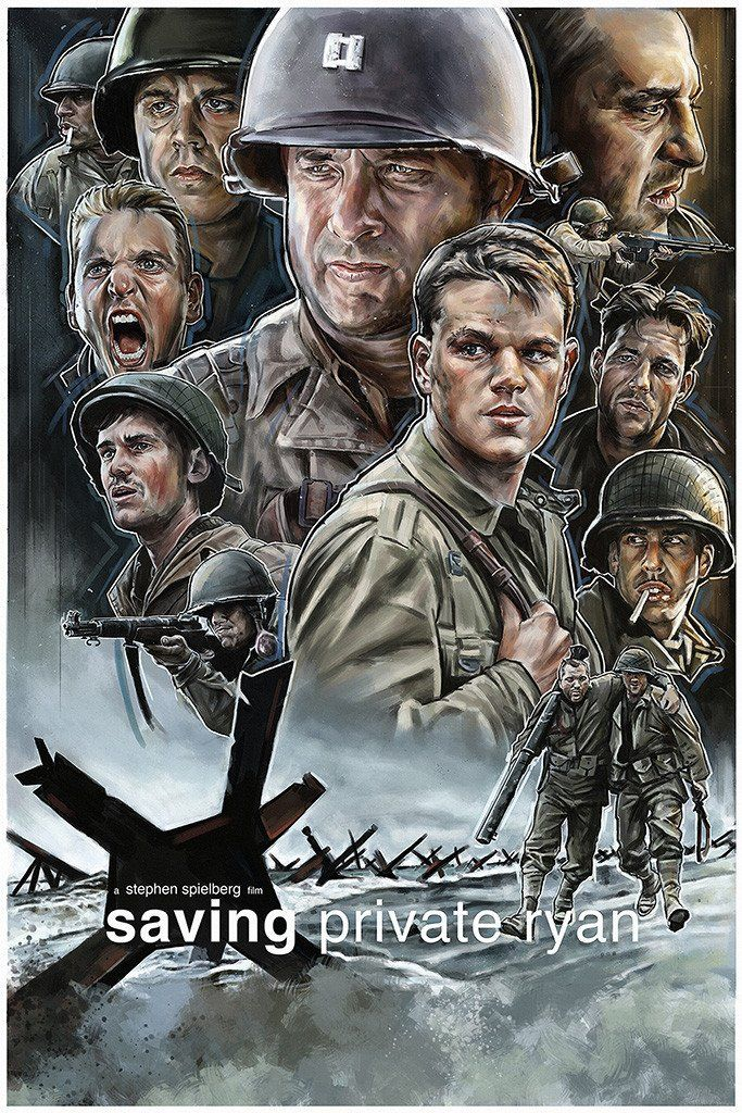 Saving Private Ryan Classic Large Movie Poster Print