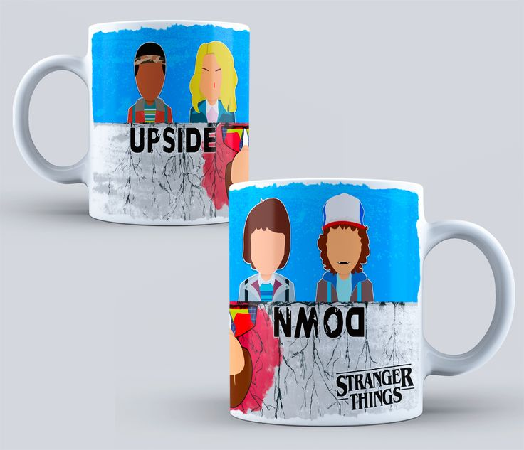 Serie Stranger Things - sublimation templates-STRANGER THINGS- Stranger Things Mug - Friends Don't Lie - Netflix - Design Sublimation