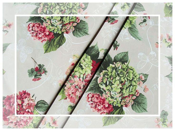 Blumen+Stoff+Vintage+Stoff+Blumen+Hortensie+280+cm+von+leho001olena+auf+DaWanda.com