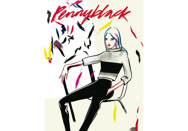 Eight drawings especially designed by the artist and illustrator Jo Ratcliffe. The author interprets the mood of the autumn-winter Pennyblack collection. Between pop and fashion art. #pennyblack #joratcliffe #illustration