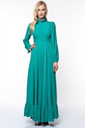 Kuaybe Gider - Kadın Tekstil - Yeşil Retro Elbie 2024.12 sadece 214,99TL ile Trendyol da