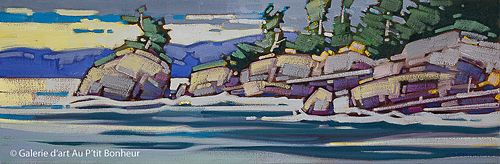Cameron Bird, 'Westcoast Patterns', 12'' x 36'' | Galerie d'art - Au P'tit Bonheur - Art Gallery