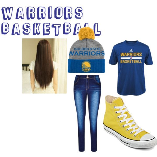 Warriors Basketball Game Outfit by fan-girl-life on Polyvore featuring Converse and adidas