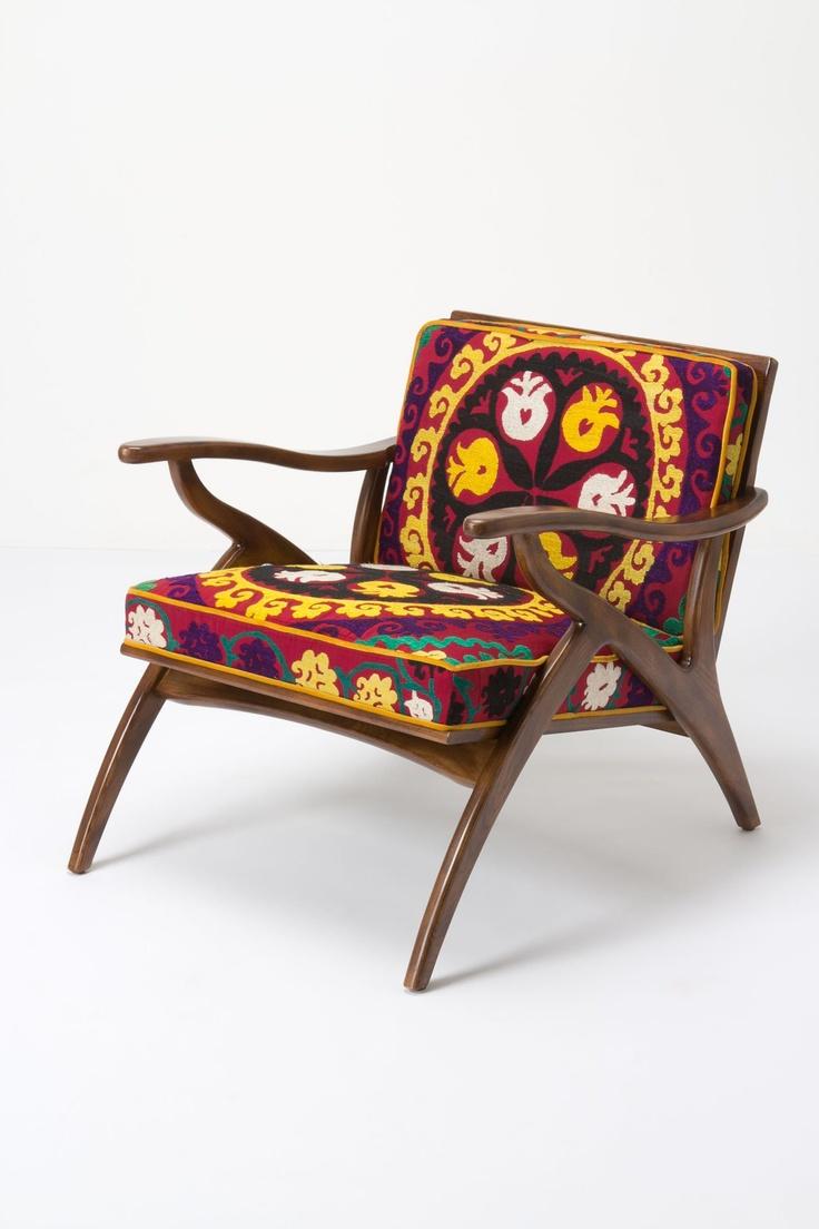 Inge Chair, Vintage Suzani - Anthropologie.com
