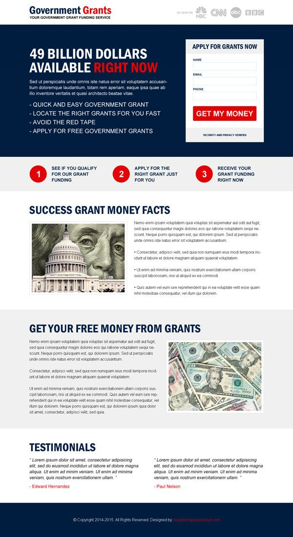 Squeeze page design templates examples to market your business   Landing Page Design Template for Sale