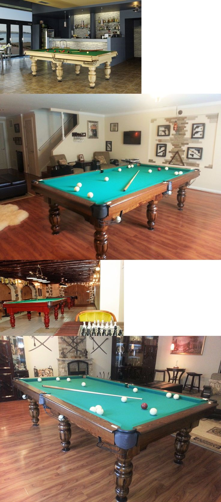 Tables 21213: 10 Professional Russian Pyramid Billiard Pool Table Sizes 8   12 Available
