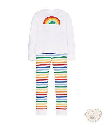 little bird rainbow pyjamas