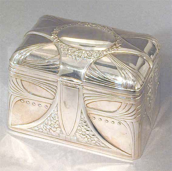 WMF ART NOUVEAU TEA CADDY c.1906
