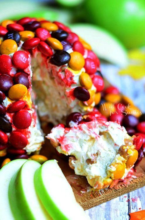 M Caramel Apple Dessert Cheese Ball 3 (c) willcookforsmiles.com #apple #caramel #dessert