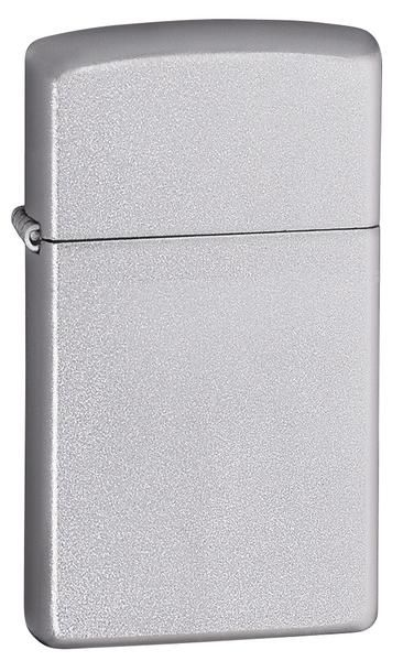 Zippo Slim Satin Chrome Lighter - Oxeme Gifts