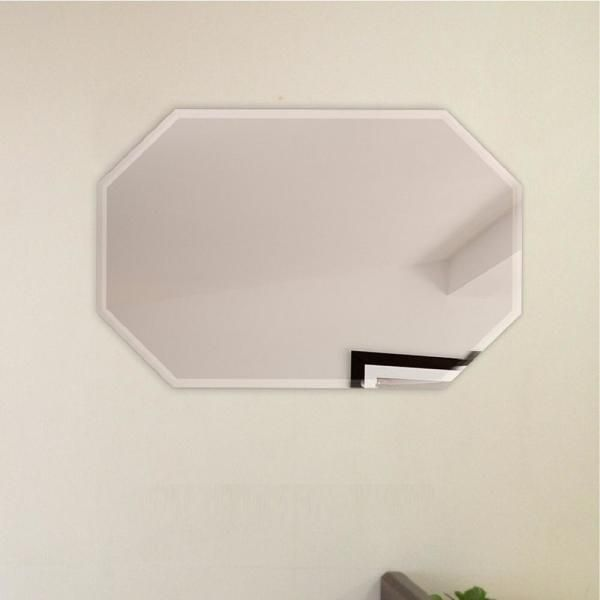 Fab Glass And Mirror 24 In X 36 In Octagon Frameless Wall Mirror Bevel Polish With 3 Hooks M 24x36oct Hks In 2020 Mirror Wall Octagon Wall