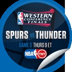 San Antonio Spurs vs. Oklahoma City Thunder #3