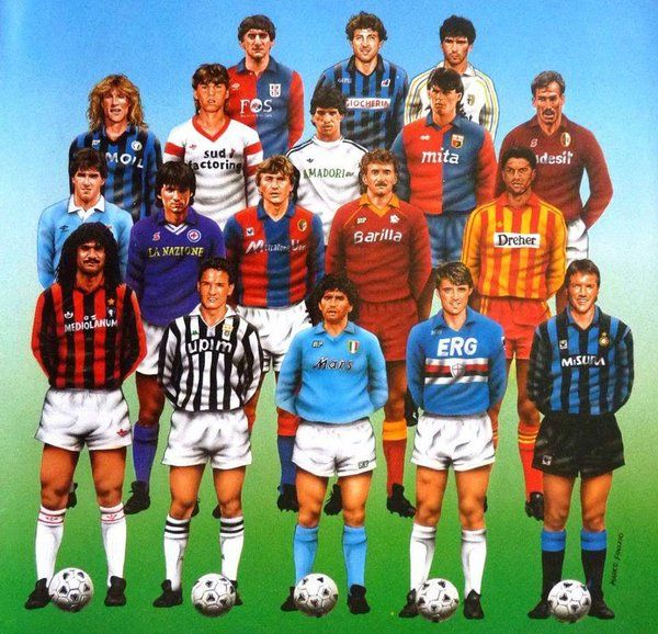 Francescoli, Caniggia, Gullit, Maradona, Mancini, Baggio, Völler, Matthäus... La #SerieA 1990/91 y las estrellas de cada uno de los equipos