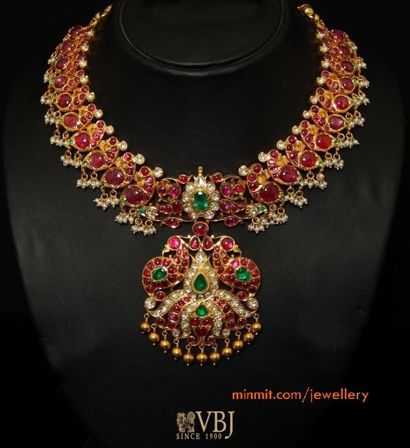 ruby necklace from vbj jewellers