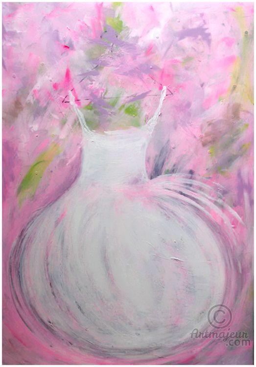 **TUTUS*PASSION*FRUIT** (Pittura),  70x100 cm da Marilena Lacchinelli Un giorno di Primavera... l'incanto floreale...