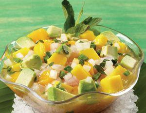 Ceviche blanco con mango | Costa rica