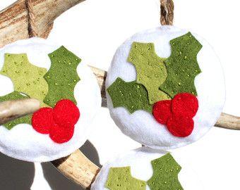 Ornamento do Natal do feltro. Decoração Do Natal Do by LapinDIY