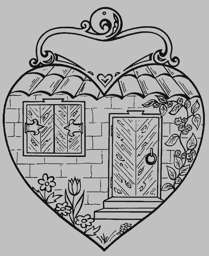 My Heart is Christ's Home (front of craft)