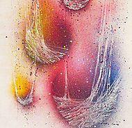 L'artiste Cynthia Dormeyer ou la dame aux cocons. Peintures numériques et picturales de cocons, papillons, oiseaux et chrysalides.