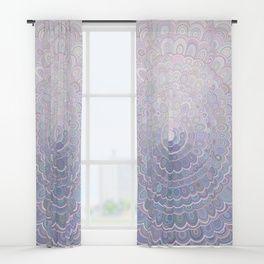 Pale Flower Mandala Window Curtains