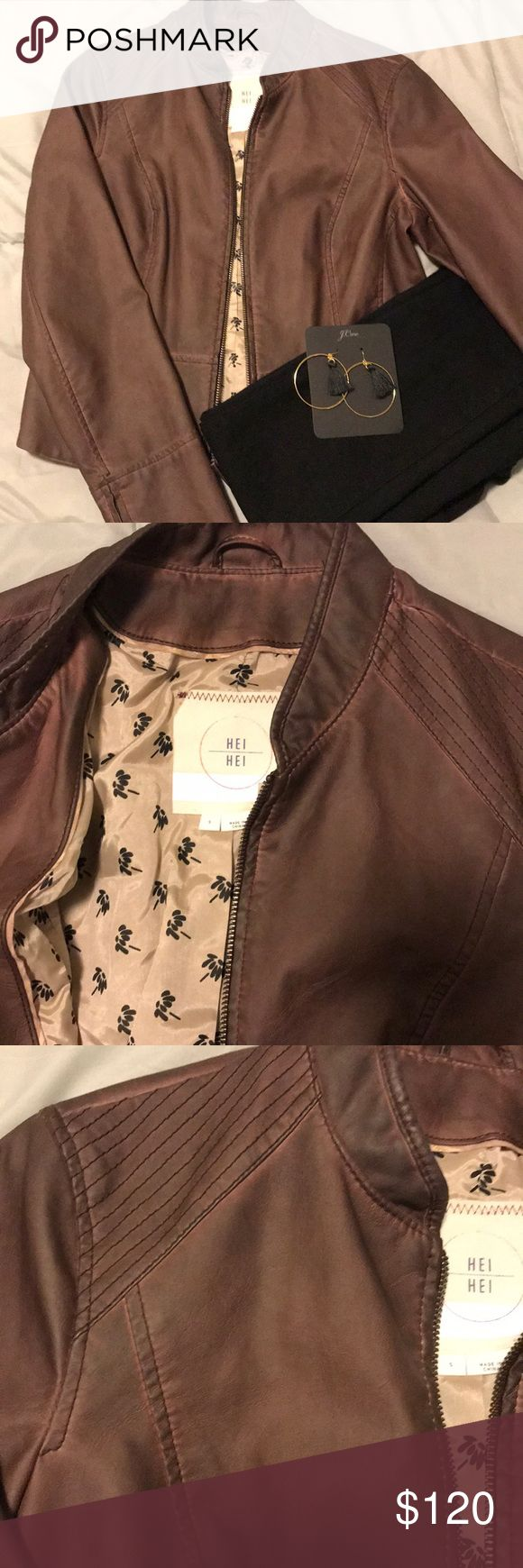 CLOSET CLOSING HPAnthropologie Faux Leather Jacket (With