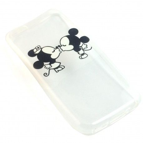 Coque Minnie Mikey Bisous disney transparent iPhone 5c