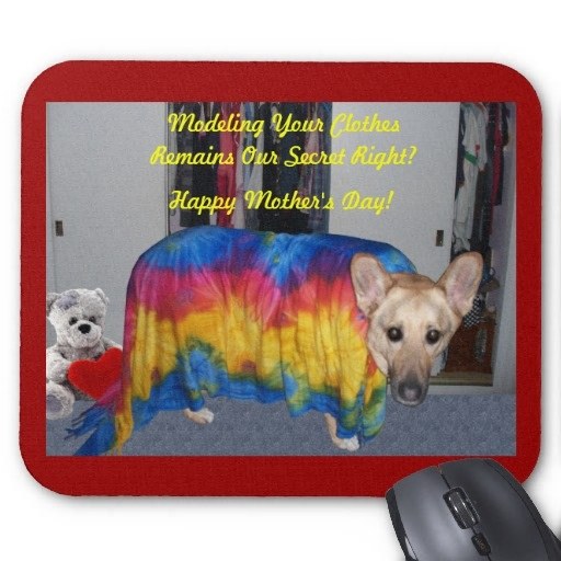 #Mother #Day #Modeling #Clothes #dog #germanshepherd #mothersdaygiftideas #motherday #gift #sandyspider #Mousepad
