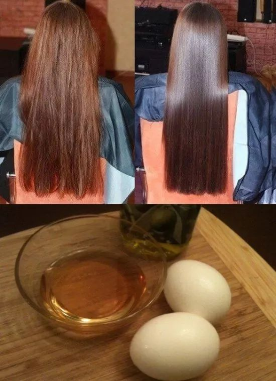 2 whole eggs, 2tbl olive oil, 2tbl honey. Mix until creamy. Completely cover hair. Put on plastic wrap or shower cap. Leave for 1 hour. Warm water rinse. Shampoo.
