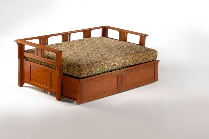 25 best ideas about full size daybed on pinterest full daybed full size daybed frame and - Solid wood trundle bed with drawers ...