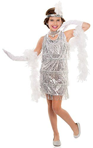 Dazzling Flapper Costume for Kids * Check this awesome image @ http://www.amazon.com/gp/product/B00WIDA2A0/?tag=cataudiobooks-20&ij=260716064348