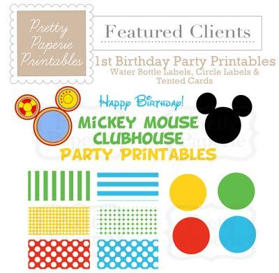 mickey mouse clubhouse party printables