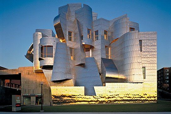 Architect Frank Gehry's Frederick R. Weisman Art and Teaching Museum in Minneapolis, Minnesota.
