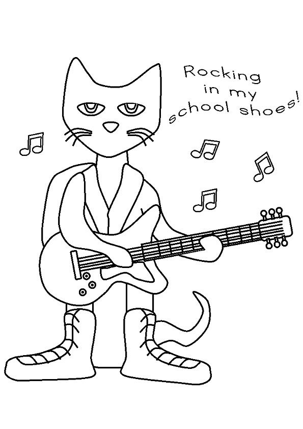 52 best images about pete the cat on pinterest cats for Pete the cat coloring page