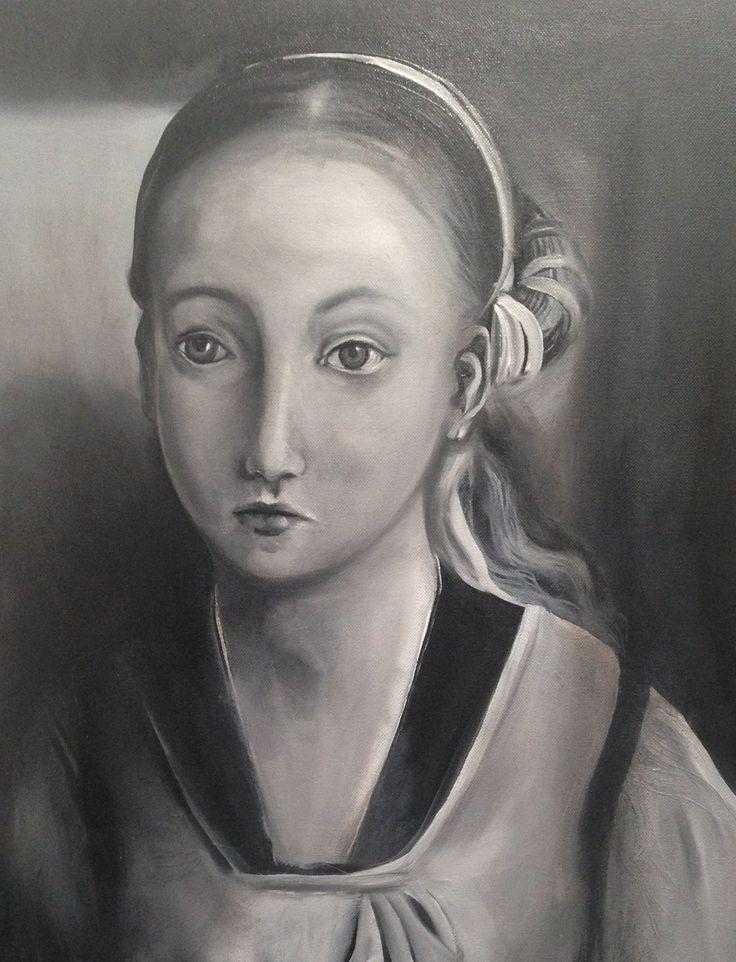 Study of La Infanta (after Juan de Flanders) - WIP