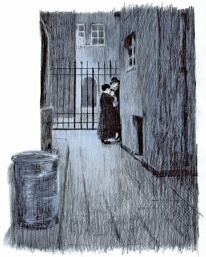 — Grazie — disse la donna. Stavo per allontanarmi quando ricordai una cosa. Rapido, raggiunsi di nuovo la donna prima che scomparisse nel buio. Tirai fuori un burattino, e glielo porsi. — Per favore, dallo a Ester quando si sveglierà. — Lo farò, adesso vai. Sapevo che dall'indomani non sarebbe più stata Ester. Non avrebbe più avuto un nome ebraico come quello. Si sarebbe  chiamata Margaret, o Domenica, o Ania, al caldo in un letto  pulito, con genitori cristiani.