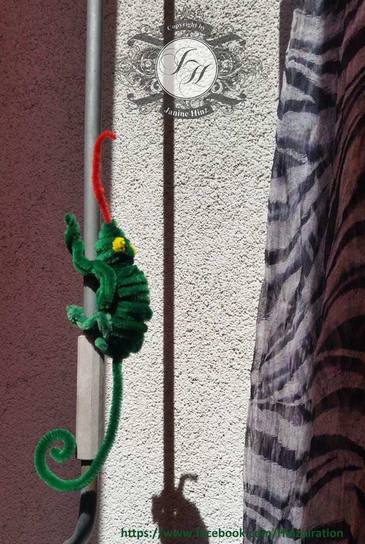 Dschungel-Party - Chameleon aus Pfeifenputzer.  Idee von:  http://www.marthastewart.com/266158/pipe-cleaner-creatures