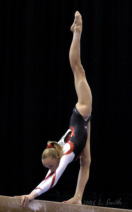Nastia Liukin at the 2006 US Nationals - gymnast women's gymnastics balance beam moved from Kythoni's Top Gymnastics and Nastia Luikin boards  #KyFun m.26.168