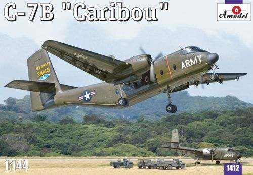 de Havilland Canada C-7B Caribou (military version). A Model, 1/144, injection, No.1412. Price: 18,70 GBP.