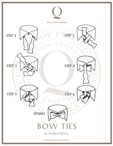 self tie bow tie instructions