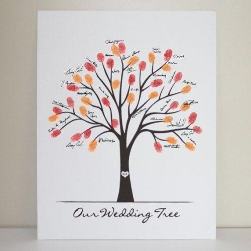Small Fingerprint Live Oak Tree Wedding Guest Book Hand Drawn: 23 Best Tree Images On Pinterest