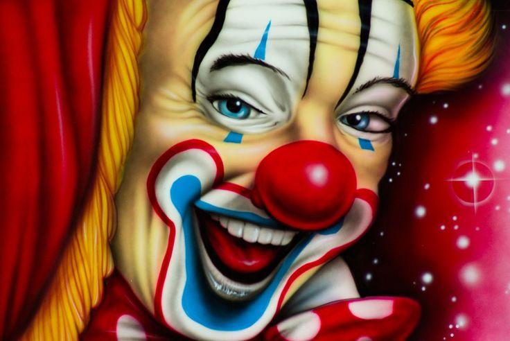 Clown, Cirque, Peinture, Art, Déguisement, Spectacle